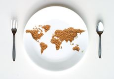 World Map of Grain  Royalty Free Stock Photo