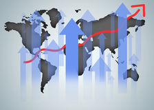 World map graphic chart Royalty Free Stock Images
