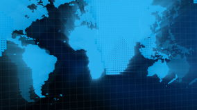 World Map Graphic stock footage