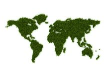 World map from grass Stock Photos