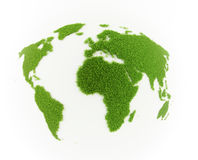 World map grass patch Royalty Free Stock Photo