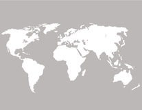 World map on a gray background. It is painted by a brush. isolated.  Stock Image