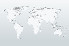 World Map on a gray background. vector illustration Stock Photo