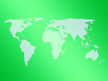 World map green. Green map of the world illustration Stock Photography