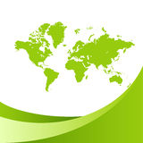 World map green background Stock Images
