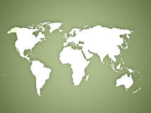 World map on green Stock Photography