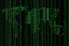 World map green digital Stock Images