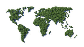 World map. Green earth. Royalty Free Stock Photos