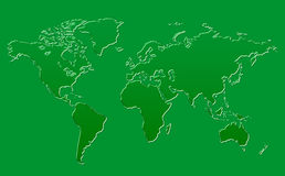 World Map Green Glass Background. Clean background for every presentation, high resolution, perfect detail work Stock Photo