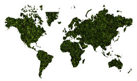 World map with green grass texture Royalty Free Stock Photo