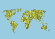 World map of green leaves, vector Stock Photography