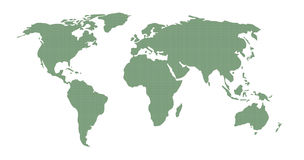 World Map Green Pattern Royalty Free Stock Photography