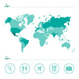 World map green  vector Stock Images