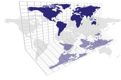 World Map Grid Stock Photography