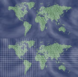 World Map With Grid Design Element Royalty Free Stock Images
