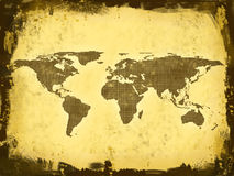 World Map, grunge Stock Photo