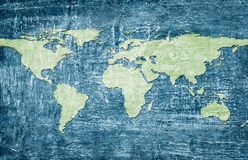 World map on grunge background Royalty Free Stock Photos