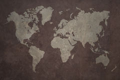 World map grunge background Royalty Free Stock Photography