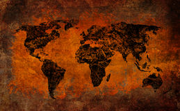 World map grunge cross vintage style Stock Photo