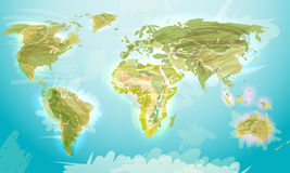 World map grunge style Stock Photos