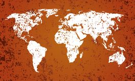 World map with grunge texture Royalty Free Stock Photos