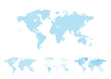 World map halftone Royalty Free Stock Photography