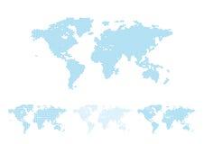 World map halftone stock illustration