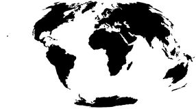World Map - Hammer Projection Royalty Free Stock Photo