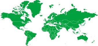 World map stock vector  Illustration of blue, land