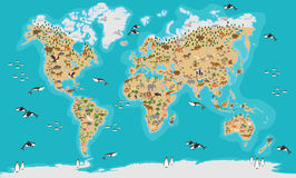 World Map highly detailed Royalty Free Stock Photography