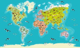 World Map highly detailed Stock Photo