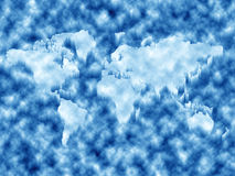 World map in ice Royalty Free Stock Image