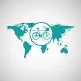 world map icon Royalty Free Stock Photos