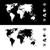 World map icon great for any use. Vector EPS10. Stock Photo