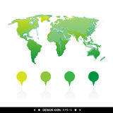 World map icon 2  great for any use. Vector EPS10. Royalty Free Stock Photo