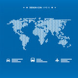World map icon 6  great for any use. Vector EPS10. Stock Images