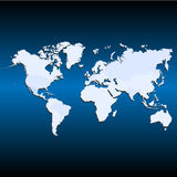 World map icon great for any use. Vector EPS10. Royalty Free Stock Images