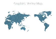World Map icon and Information Graphics Stock Image
