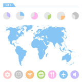 World map icons set great for any use. Vector EPS10. Stock Photography