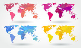 World map icons Stock Photo