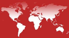 World Map III. A world map background illustration Stock Photography