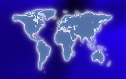 World map illustration Royalty Free Stock Image