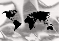 World map illustration Stock Images