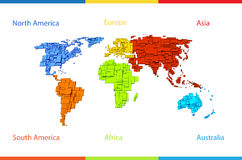 World Map Illustration Stock Photos