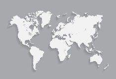 World map  illustration. On the gray background. eps10 Stock Photos