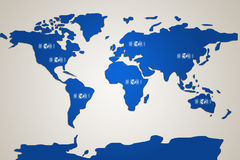 World map illustration Royalty Free Stock Images