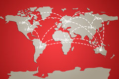 World map illustration Stock Photo