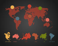 World Map Illustration. World Map color the world  Illustration Stock Photography