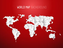 World map illustration created of leafs with all continents. And text at the top Royalty Free Stock Photography