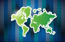 World map illustration design Royalty Free Stock Photo